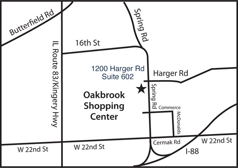map to the Law offices of Hoy & Sahlas, Ltd.